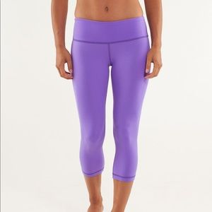 Lululemon Wunder Under Crop Pant Purple